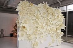 Gigantic paper flowers...Our next photo booth backdrop?!