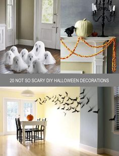 Here are some cute ideas to get your home Halloween ready.