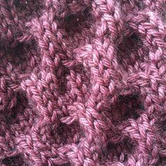 Honeycomb stitch.