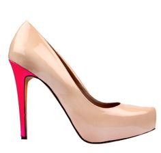 Vince Camuto nude pump with coral coloured heel....LOVE!