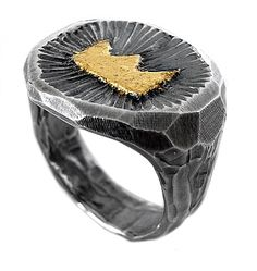 Lord Coconut - mens jewellery melbourne, designer cufflinks, mens ring, gift ideas for men: Crown signet ring by Zachary Frankel
