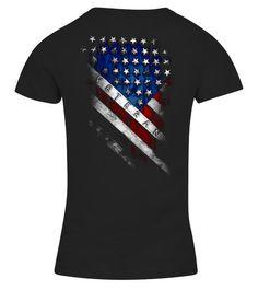 4ce7639b Veteran Diagonal American Flag - V-neck T-Shirt Woman #Shirts #PoliceTshirt