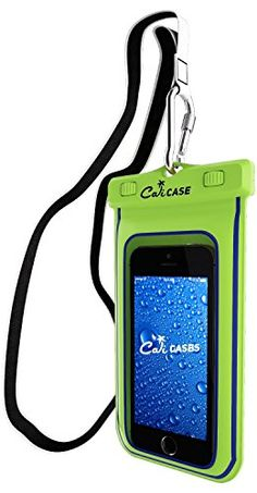 CaliCase Universal Waterproof Floating Case  Yellow Glow in Dark *** Details can be found by clicking on the image.