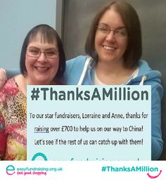 """@easyuk We've now raised over £3,800 #thanksamillion to Easyfundraising!"" #Fundraising #Giving #Charity"