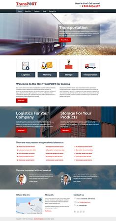 #Responsive, mobile-friendly and retina-ready #Joomla template appropriate for #transport business websites.