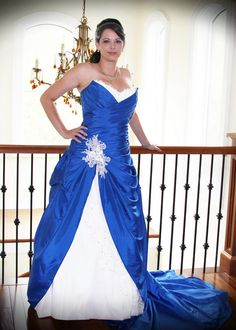 Blue Wedding Dress With White And Lace Custom Made In By Availco Dresses