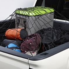 This Bed Net helps to secure items in the bed of your Silverado. Heavy-duty stretch shock cords radiate from a stainless steel center ring to focus the net's strength at the center of the load where it's needed. Mounting hardware is included for easy installation. Contact your Chevrolet dealership for more information.