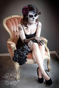 Sugar Skull Makeup | Paskey Photo & Boudoir @Denise H. Torres