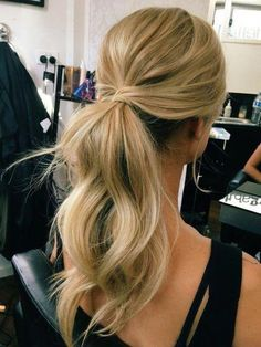 hairstyles, bridal hair style, messy ponytail hairstyles all down hairst… - All For Simple Hair Trendy Hairstyles, Straight Hairstyles, Wedding Hairstyles, Bridesmaids Hairstyles, Bridesmaid Ponytail, Homecoming Hairstyles, Bridesmaid Dresses, Everyday Hairstyles, Prom Updo