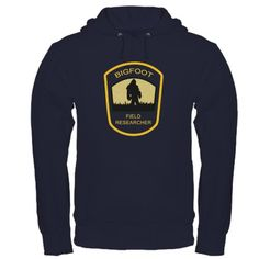 #CafePress #Bigfoot Field Researcher dark Large Navy #Hoodie   Hoodie dark