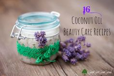 16 coconut oil beauty care recipes #DIY #homemade #coconutoil