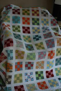 Nine patch quilt along