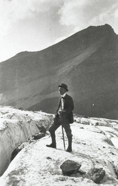George Bird Grinnell on Grinnell Glacier, 1920