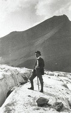 George Bird Grinnell on Grinnell Glacier, 1920