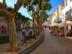 There was a good atmosphere in the village square, with plenty of places to eat and drink and watch the world go by. Ericeria, Portugal.