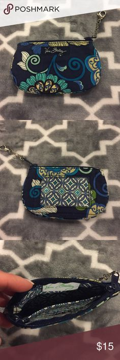 "Vera Bradley ID Holder - Blue Paisley ID / license Holder Pouch. Length: 5"" / Width: 3"". Zipper closure. This pouch was used but still in perfect condition, no stains or pulls. Clear plastic on one side to show identification. Vera Bradley Bags Cosmetic Bags & Cases"
