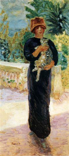 Pierre Bonnard - Marthe à la Chatte, 1912