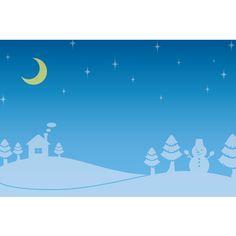 12月イラスト背景「夜の雪景色」