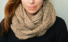 KNITTING PATTERN:  Braided Cable Cowl, chunky cozy knit pattern pdf scarf infinity snood last minute DIY. $5.00 USD, via Etsy.