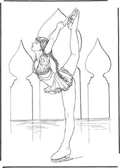 Figure Skating 5 Teenagers Coloring Pages