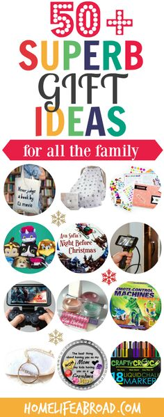 50+ Superb Holiday Gift Ideas for all the Family @homelifeabroad.com   #giftguide #holidaygiftguide #gaminggifts #sparklygifts #giftsforhim #giftsformen #giftsforher #giftsforwomen #bookgifts #subscriptionbox #giftsforkids #educationalgifts #christmasgifts #giftsforgrandparents #giftsforbloggers #giftsformom