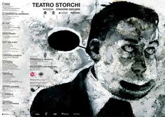 Immagine di Stefano #Ricci per un manifesto della Stagione 2005-06 del #Teatro #Storchi di #Modena