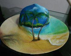 Dress Painting, Fabric Painting, Tole Painting, Painted Hats, Sharpie Paint, Hat Decoration, Diy Shorts, Diy Hat, Fancy Hats