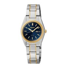 Seiko® Womens Two-Tone Blue Solar Watch  found at @JCPenney
