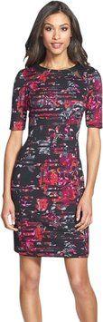 Taylor Sheath Scuba Floral Dress