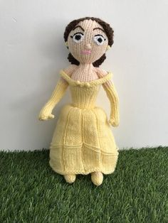 Belle knitting pattern disney Beauty and the beast pattern knit knitted disney princess plushie soft toy amigurumi stuffed doll tutorial   #amigurumi #beast #beauty #belle #disney #Doll #knit #knitted #knitting #pattern #plushie #princess #Soft #stuffed #Toy #Tutorial