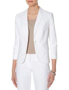 Cotton One Button Jacket