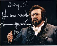 Luciano Pavarotti Autograph