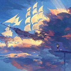 Stunning digital painting by the phenomenal artist @hanyijiee.