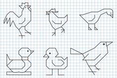 Reproduction Sur Quadrillage - Oiseaux 2
