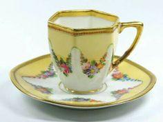 Love this for tea Yellow Tea Cups, Turkish Coffee Cups, Tea Strainer, China Tea Cups, Tea Service, Chocolate Pots, Coffee Set, Tea Cup Saucer, Drinking Tea