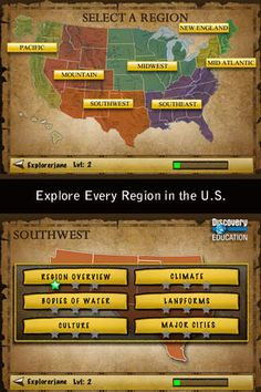 Geography: U.S. Geography by Discovery Education is an awesome app that allows students to learn new things about the U.S. as well as play fun games that would help them study. This could be used in a classroom for accelerated learners.
