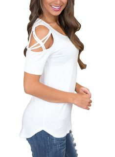 ROVLET Womens Casual Back Lace Color Block Tunic Tops Long Sleeve T Shirts Blouses