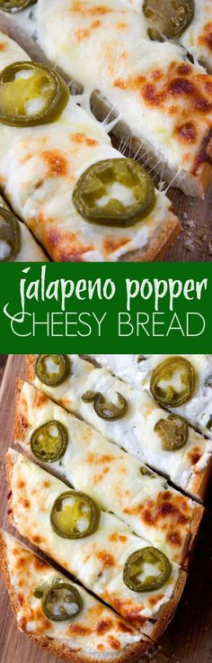 Jalapeno Popper Cheesy Garlic Bread spicy take on our favorite cheesy garlic bread! You will love it! It€™s the perfect game day food! Also, check out our VIDEO to see how to make it!