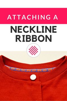 For this knit top ribbon neckline sewing tutorial you'll need: A narrow decorative ribbon. It should be slightly wider then the seam allowance (I recommend a 1 cm width (3/8 inches). Twill tape, grosg