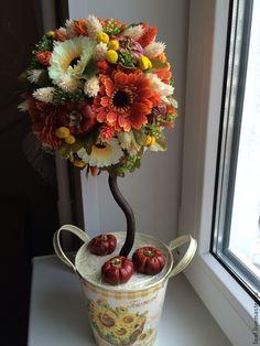 "Топиарий ""Прованс"". - коричневый,топиарий дерево счастья,прованс,подарок на любой случай"