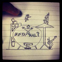 Gran banda ilustrada #rock #estámalrock #illustration #rockband #guitar #drums #bass