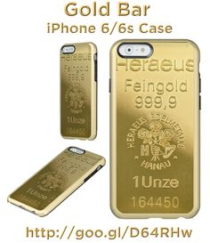 """Are you the 'Golden One'?  Maybe you need one of these """"Gold Bar"""" iPhone Cases http://www.zazzle.com/gold_bar_iphone_6_6s_case_iphone_case-256122252414764939 #iPhone6 #iPhoneCase #cases #gifts #golf"""