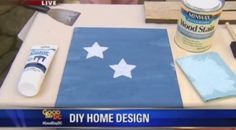 Watch Minwax® wood finishing expert, Bruce Johnson, show off his favorite decorations. Diy Recycle, Reuse, Recycling, Wood Finishing, Minwax, Recycled Crafts, Fourth Of July, Repurposed, House Design