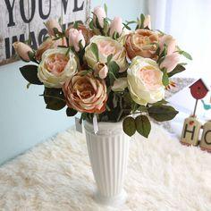 Brand Artificial flowers single Royal rose flower decoration wedding flowers Home Furnishing simulation