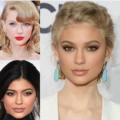 What do you think of this face mash up??? #taylorswift and #kyliejenner love or hate??