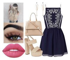 """""""Sin título #381"""" by maria-landeros on Polyvore featuring moda, Miss Selfridge, Carvela, Givenchy y Lime Crime"""