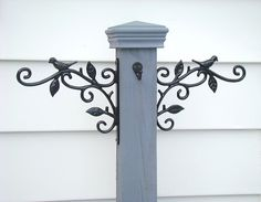 Porch Decor Welcome Post Hanging Sign Post by BrandywineWoodArt