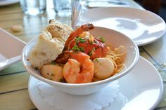 The Mooring - Newport, RI, United States. seafood pasta, split in half for the…