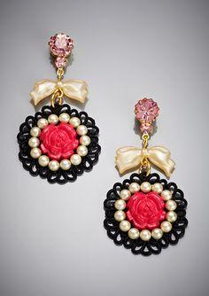 TARINA TARANTINO Small Filigree Rose Earrings