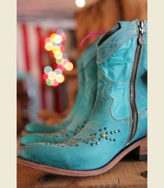 THE GALVESTON BOOT - TURQUOISE - Junk GYpSy co.